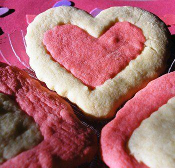 Double Heart Cookies