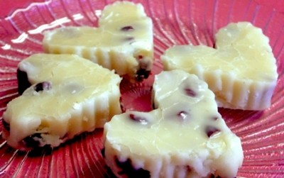 White Chocolate Cherry Fudge
