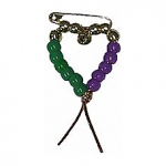 Mardi Gras Heart Pin