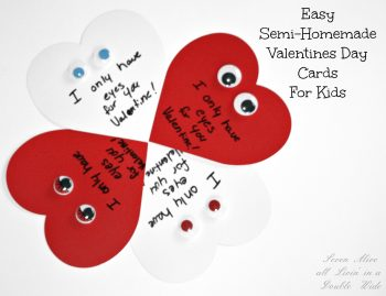 Semi-Homemade Valentine's Day Cards