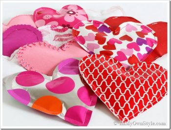 Paper Valentine Candy-Filled Hearts