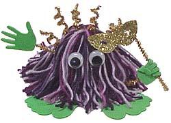 Mardi Gras Yarn Bug
