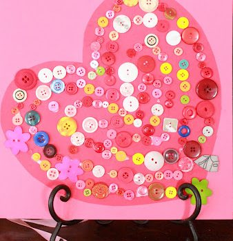 Button Valentine Heart
