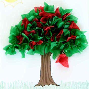 Tissue Paper Cherry Tree