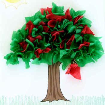 Tissue Paper Cherry Tree | Fun Family Crafts