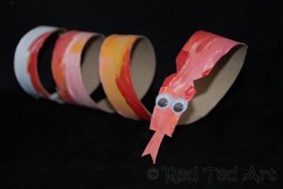 Cardboard Tube Snake