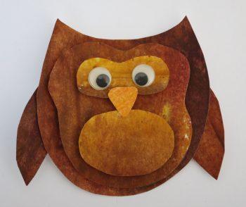 Crayon Melt Owl