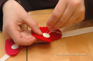 Heart Garland: Teach Kids to Sew a Button