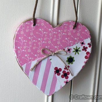 Decoupaged Paper Mache Heart