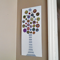 Colored Denim Circle Tree
