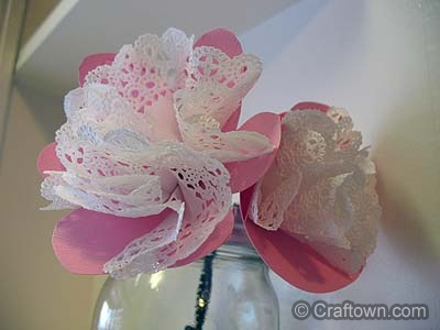 Doily Flower Fun Family Crafts