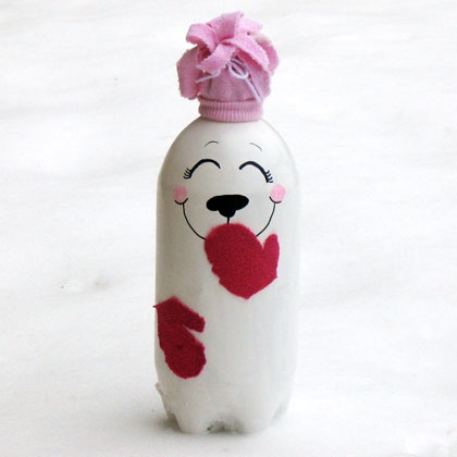 Soda Bottle Polar Bear