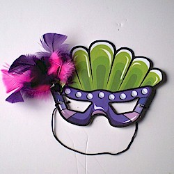 Printable Mardi Gras Mask