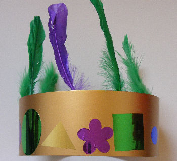 Mardi Gras Crown Fun Family Crafts