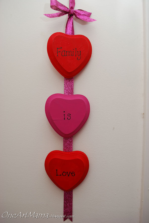 Family Is Love Wall Hanging Fun Family Crafts