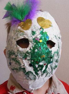 Paper Mache Mardi Gras Mask