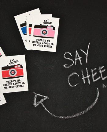 Say Cheese! Printable Valentines