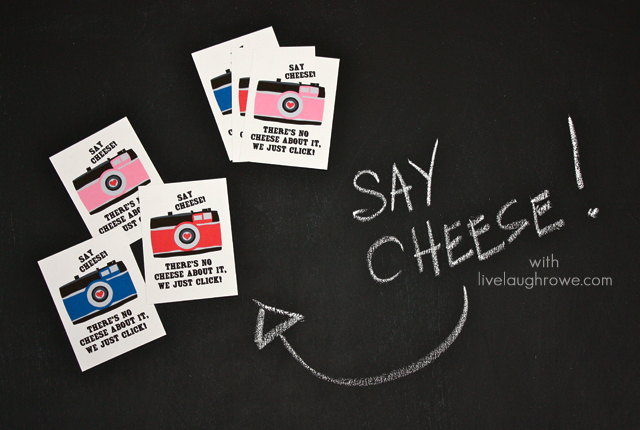 Say Cheese! Printable Valentines