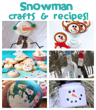 Find tons of snowman crafts & recipes for your kids!