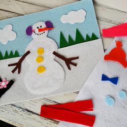 Snowman Felt Board