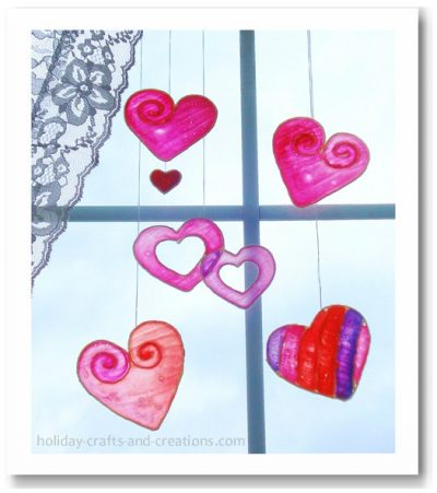 Stained Glue Hearts