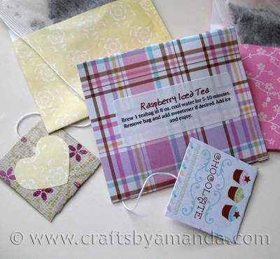 Homemade Valentine Tea Bags