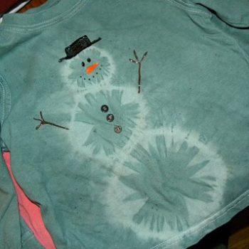 Tie Dye Snowman Shirt