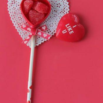 Valentine Heart Container Sticks