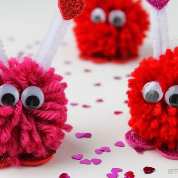 Valentine Pom Pom Monsters