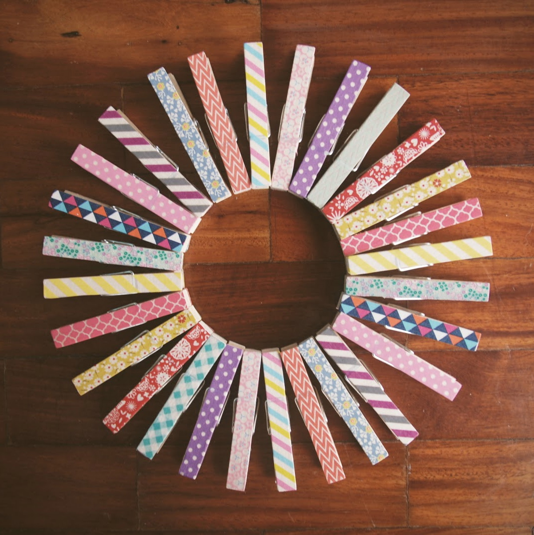 Washi tape clothespin magnets fun family crafts for Clothespin crafts for adults