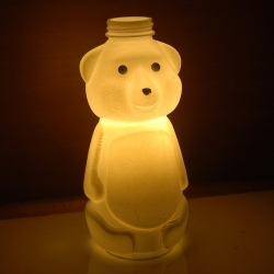 Recycled Honey Bear Bottle Night Lamp