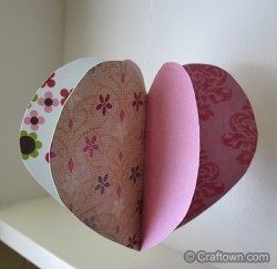 3-D Paper Heart Ornament