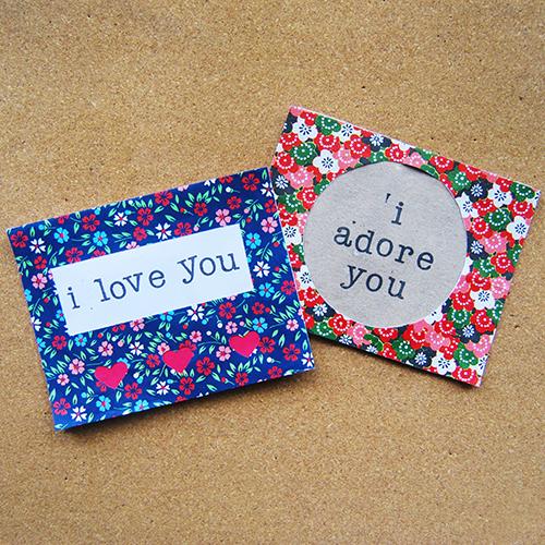 Valentine Cards Using Origami Paper