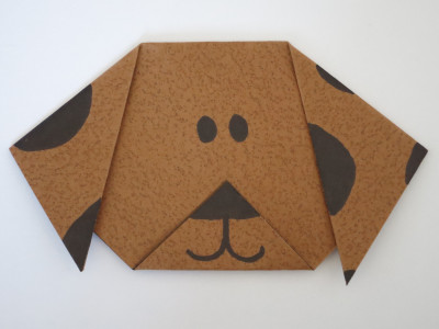 Origami Dog Face Folding Instructions