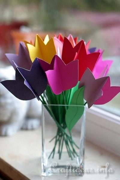 paper tulips How to make paper tulip card, and for your scrapbook layouts to start, we want to create our tulips use tiny nature 1t, cut three leafs out of your scraps of paper.