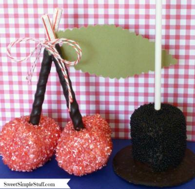 Marshmallow Pops for President's Day