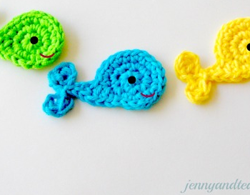 Whale Crochet Applique
