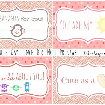 Lunch Note Card Printables