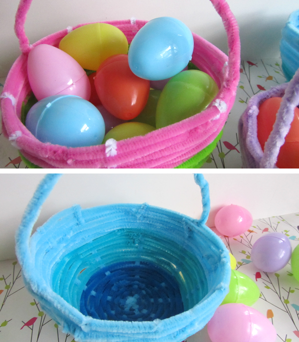 Pipe Cleaner Easter Basket