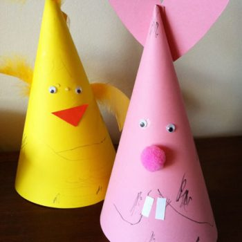 Bunny and Chick Easter Hats
