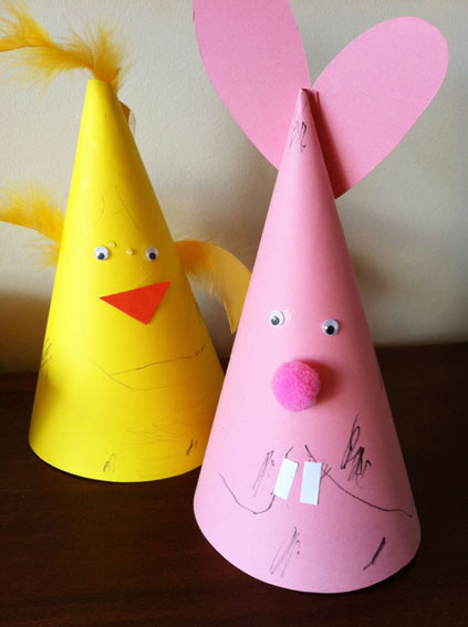 Bunny And Chick Easter Hats Fun Family Crafts