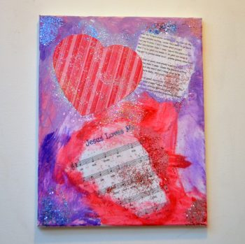 "Mixed Media ""Heart Art"""