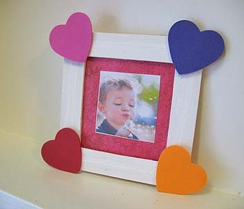 Craft Stick Heart Frame