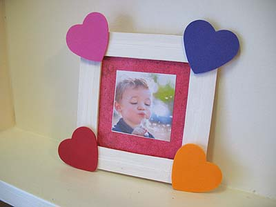 Craft Stick Heart Frame Fun Family Crafts