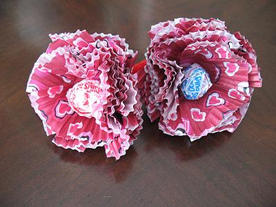 Cupcake Liner Lollipop Flowers Fun Family Crafts