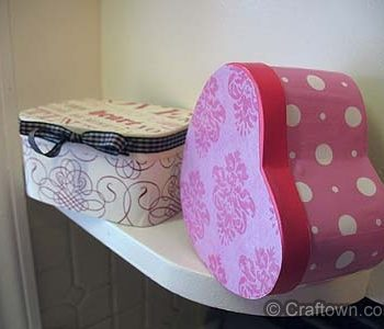 Decoupaged Gift Boxes