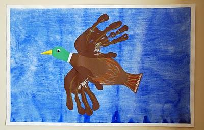 Hand Print Duck