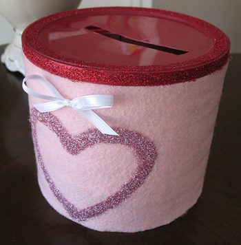 Glitter Coffee Can Valentine Box