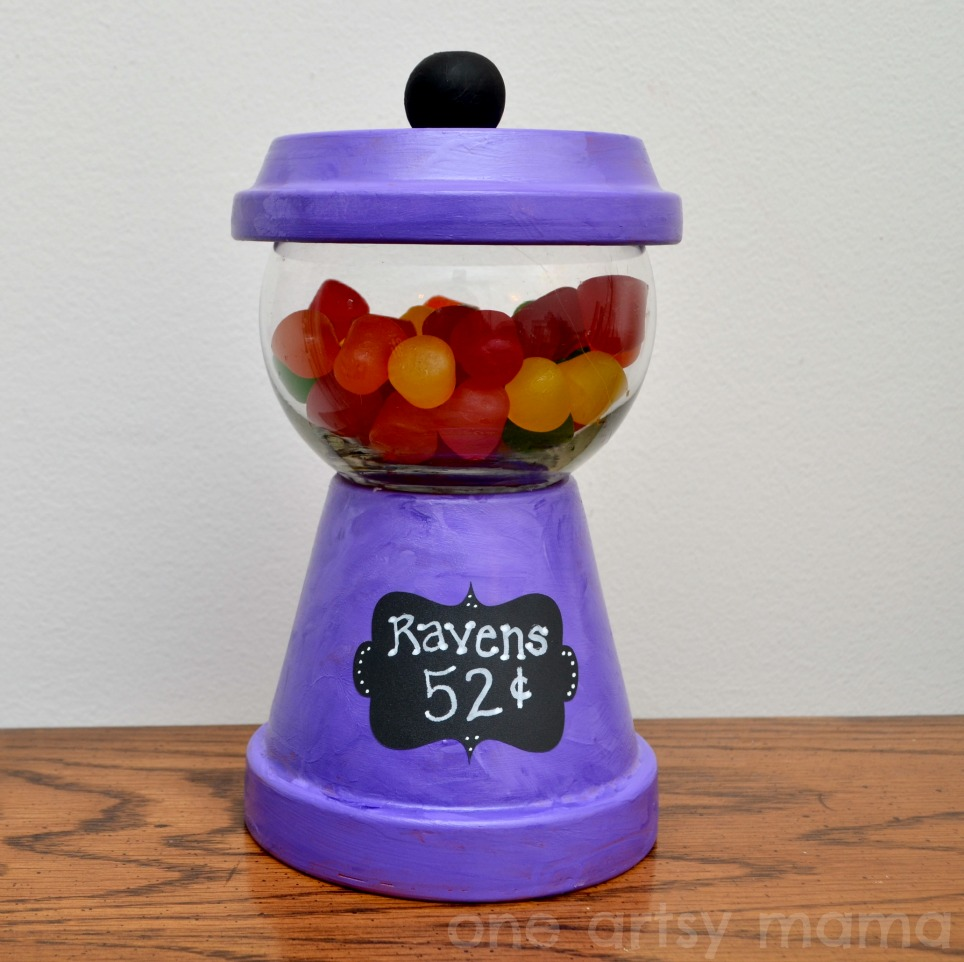 Made From Clay Pots Crafts: Gumball Machine Candy Dish