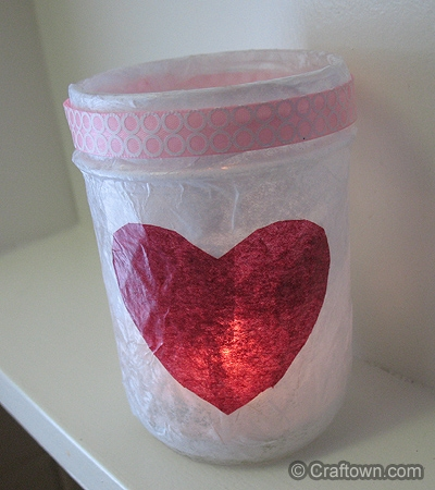 Valentine Heart Luminary